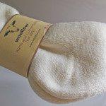 All natural wool socks heel detail
