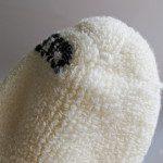 All natural wool socks inside toe seam detail