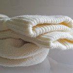 All natural wool socks top detail